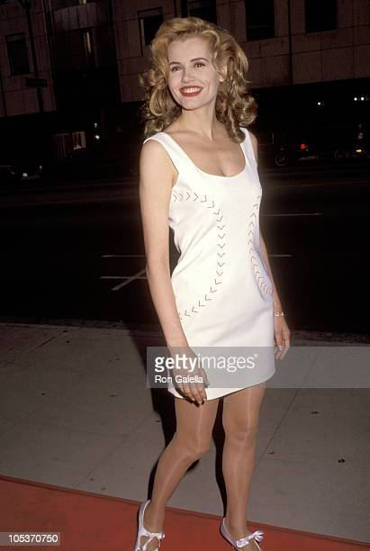 Geena Davis during 'A League of Their Own' Los Angeles Premiere at Academy Theater in Beverly Hills California United States