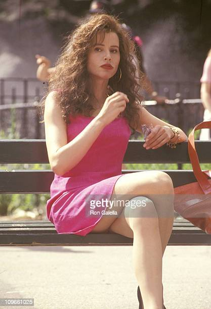 Geena Davis during Geena Davis sighting at Central Park during the Filming of the Movie 'Angie' June 12 1993 at Central Park in New York City New...