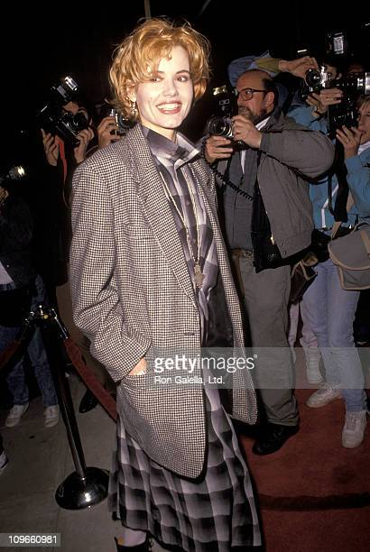 Geena Davis during 'The Field' Premiere December 12 1990 at Academy Theater in Beverly Hills California United States