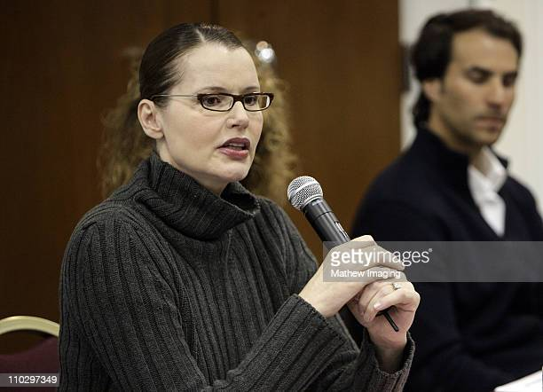 Geena Davis *EXCLUSIVE IMAGE* during Geena Davis Participates in the Humanitas Writers Workshop - March 21, 2007 at The Academy of Television Arts &...