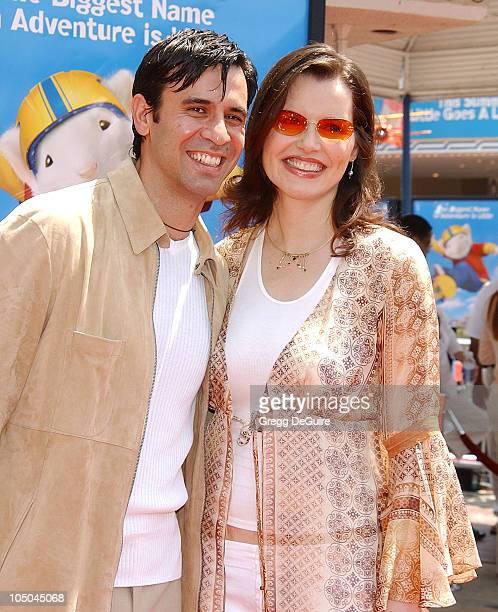 Geena Davis husband Reza Jarrahy during 'Stuart Little 2' Premiere at Mann Village Theatre in Westwood California United States