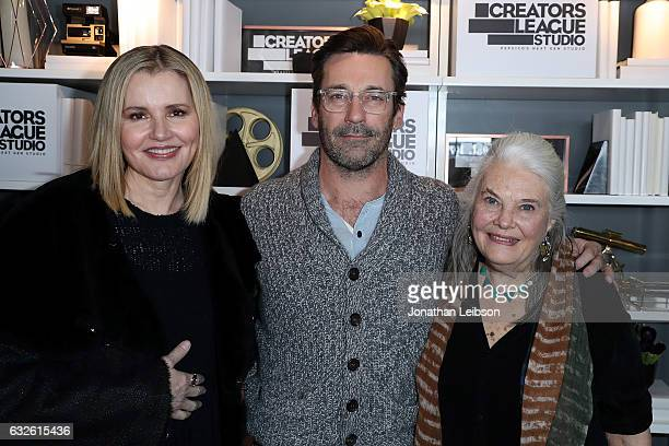 Geena Davis Jon Hamm and Lois Smith attends theCreators League Studio At 2017 Sundance Film Festival Day 6 on January 24 2017 in Park City Utah