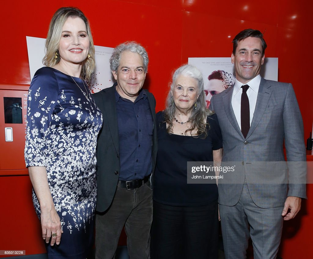 Geena Davis, Michael Almereyda, Lois Smith and Jon Hamm attend 'Marjorie Prime' New York premiere on August 18, 2017 in New York City.