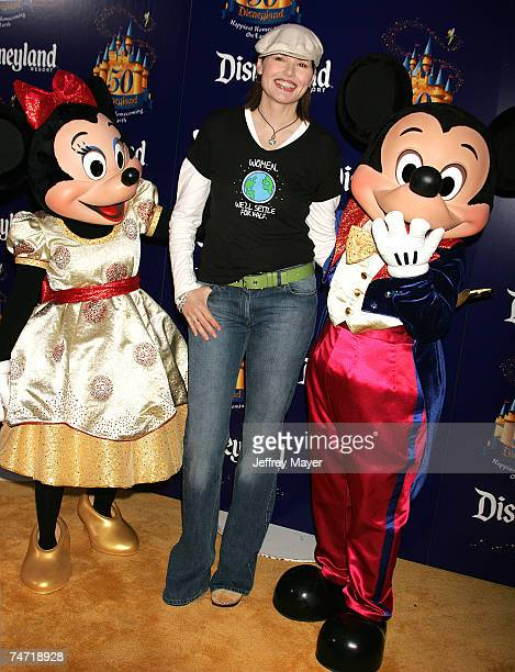 Geena Davis Mickey Mouse and Minnie Mouse at the Disneyland in Anaheim California