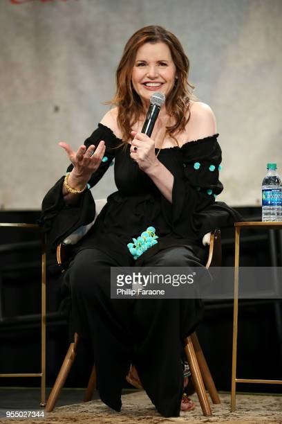 Geena Davis speaks onstage during 'The Time is Now' panel at the 4th Annual Bentonville Film Festival Day 5 on May 5 2018 in Bentonville Arkansas