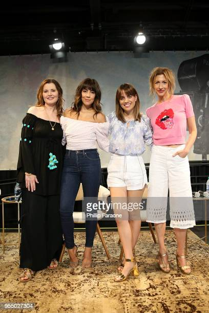 Geena Davis Stephanie Beatriz Natalie Morales and Alysia Reiner attend 'The Time is Now' panel at the 4th Annual Bentonville Film Festival Day 5 on...