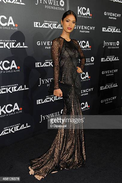 Geena Rocero attends the 9th annual Keep A Child Alive Black Ball at Hammerstein Ballroom on October 30 2014 in New York City