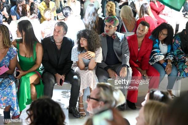 Geena Rocero, Indya Moore, Alok V. Menon, and Dyllón Burnside attend the Prabal Gurung front row during New York Fashion Week: The Shows at Gallery I...