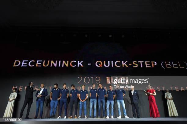 Geert Van Bondt of Belgium Sports Director of Team Deceuninck QuickStep / Iljo Keisse of Belgium and Team Deceuninck QuickStep / Rémi Cavagna of...