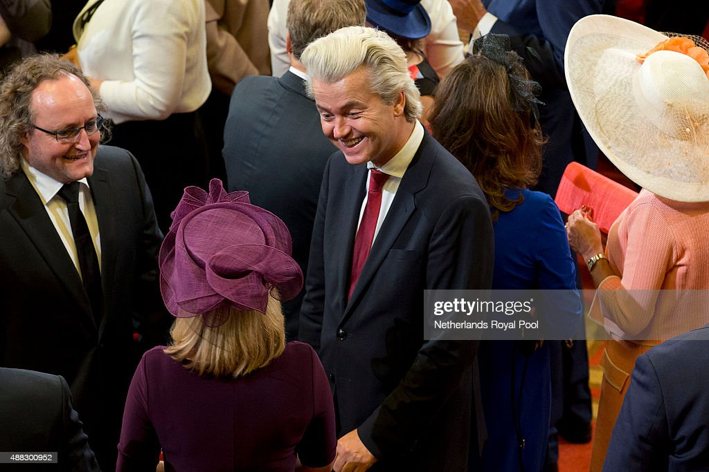 Geert Wilders attends the opening of the parliamentary year on September 15, 2015 in The Hague, The Netherlands.