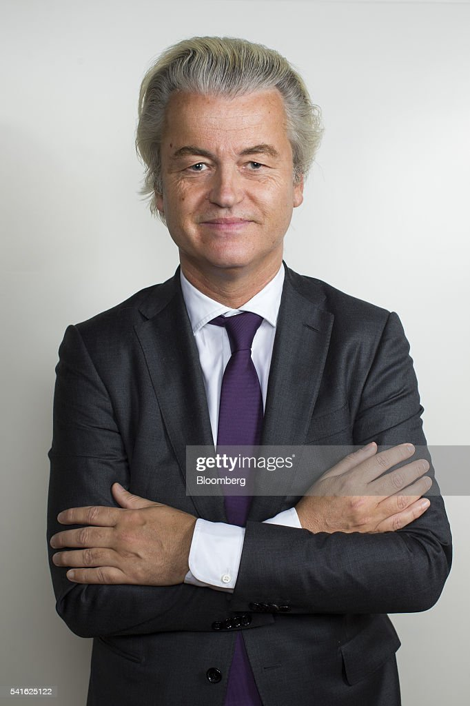 Geert Wilders, leader of the Freedom Party, poses for a photograph following an interview in The Hague, Netherlands, on Thursday, June 16, 2016. Dutch Prime Minister Mark Rutte said that he wouldnt rule out governing with anti-Islam Freedom Party leader Wilders, as he acknowledged a collective failure by traditional parties to adequately respond to voter concerns. Photographer: Jasper Juinen/Bloomberg via Getty Images