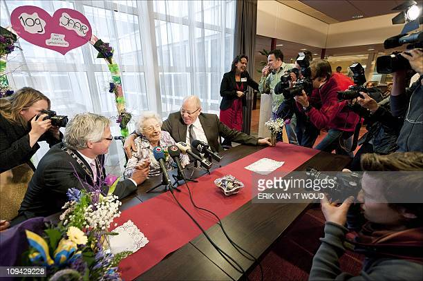 Geertruide Draaisma Netherlands' oldest inhabitant celebrates her 109th birthday at the De Hofwijck care center in Leeuwarden on February 25 2011 AFP...