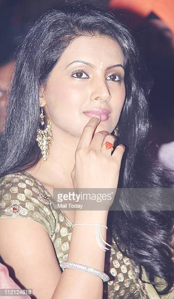 Geeta Basra at Baisakhi celebrations at Shanmukhananad Hall in Mumbai on April 10 2011