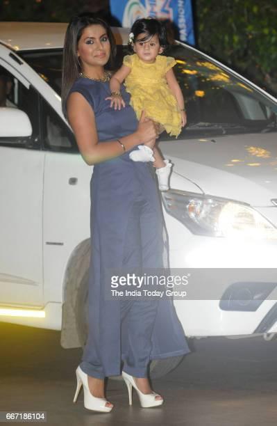 Geeta Basra during the party hosted by Nita and Mukesh Ambani to celebrate 10 glorious years of Mumbai Indians in Mumbai