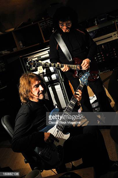 Geezer Butler and Tony Iommi of Heaven and Hell recording at the Rockfield Studios on July 25, 2007 in Monmouth.