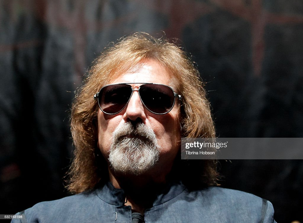 Geezer Butler attends the Ozzy Osbourne and Corey Taylor special announcement press conference on May 12, 2016 in Hollywood, California.