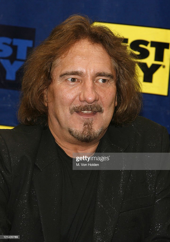Geezer Butler during Black Sabbath CD Release of 'Heaven and Hell: The Dio Years' - Inside at Best Buy in New York City, New York, United States.