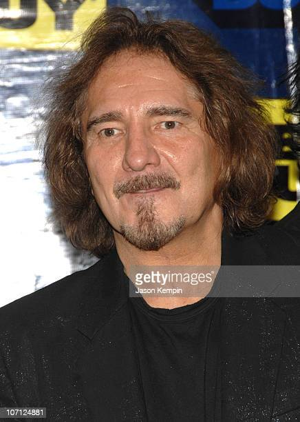 Geezer Butler during Black Sabbath InStore Appearance For 'Heaven and Hell The Dio Years' April 3 2007 at Best Buy 5th Avenue in New York City New...