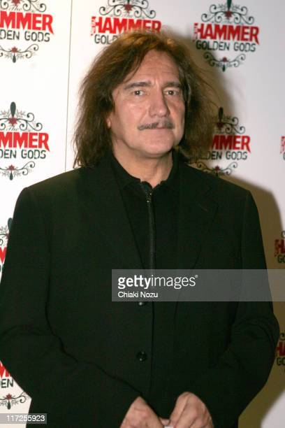 Geezer Butler from Black Sabbath during The Metal Hammer Golden Gods Awards 2005 Arrivals Press Room at The Astoria in London Great Britain