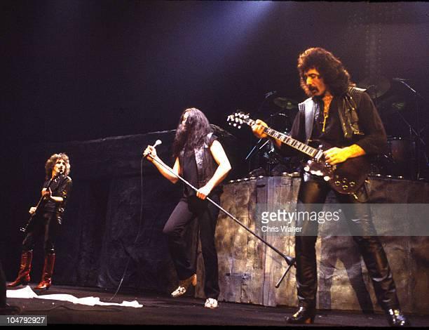 Geezer Butler Ian Gillan and Tony Iommi of Black Sabbath in 1984