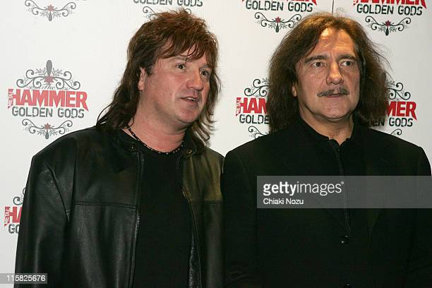 Geezer Butler of Black Sabbath during The Metal Hammer Golden Gods Awards 2005 Arrivals Press Room at The Astoria in London Great Britain