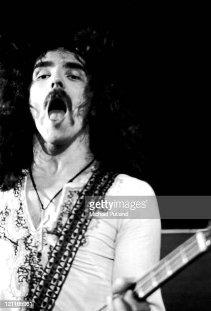 Geezer Butler of Black Sabbath performs on stage at the Royal Albert Hall London on 17th February 1972