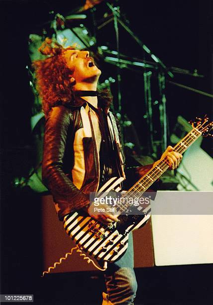 Geezer Butler of Black Sabbath performs on stage on the 'Never Say Die' tour at Hammersmith Odeon on June 10th 1978 in London England