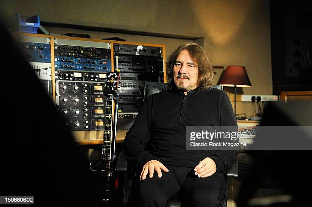 Geezer Butler of Heaven and Hell at the Rockfield Studios on July 25, 2007 in Monmouth.