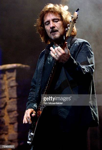 Geezer Butler of Heaven and Hell performs in support of the bands 'Heaven and Hell Live 2007' release at the HP Pavilion on April 24 2007 in San Jose...