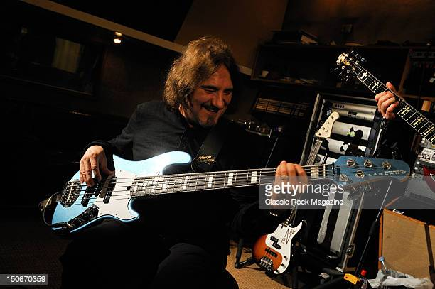 Geezer Butler of Heaven and Hell recording at the Rockfield Studios on July 25, 2007 in Monmouth.