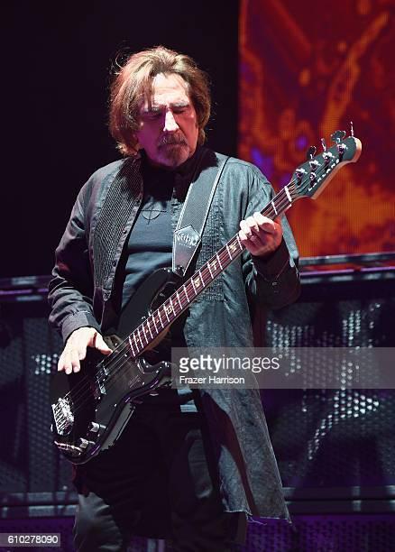 Geezer Butler ofBlack Sabbath performs at Ozzfest 2016 at San Manuel Amphitheater on September 24 2016 in Los Angeles California