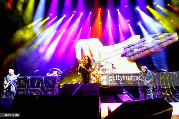 Geezer Butler Ozzy Osbourne and Tony Iommi of Black Sabbath performs at Ozzfest 2016 at San Manuel Amphitheater on September 24 2016 in Los Angeles...
