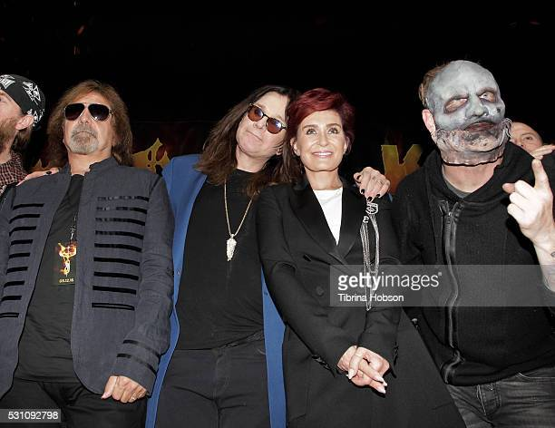 Geezer Butler Ozzy Osbourne Sharon Osbourne and Corey Taylor attend the Ozzy Osbourne and Corey Taylor special announcement press conference on May...