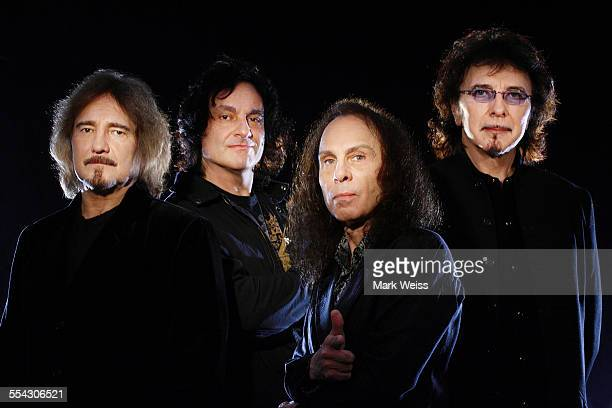 Geezer Butler Vinny Appice Ronnie James Dio and Tony Iommi of Heaven and Hell studio group portrait United States 2007