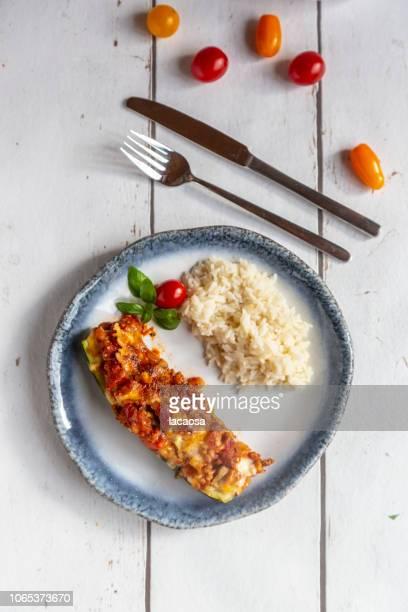gefüllte Zucchini mit Reis