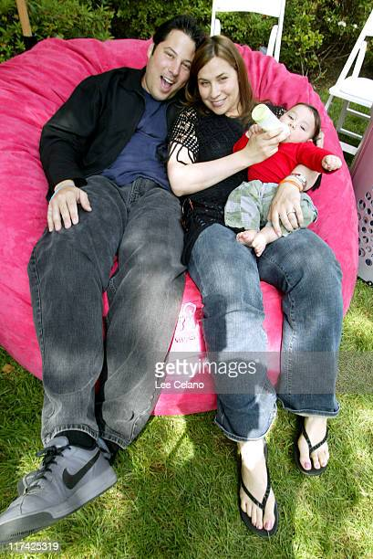 Geg Grunberg wife Elizabeth and son Sammy at Love Sac Photo by Lee Celano/WireImage for Silver Spoon