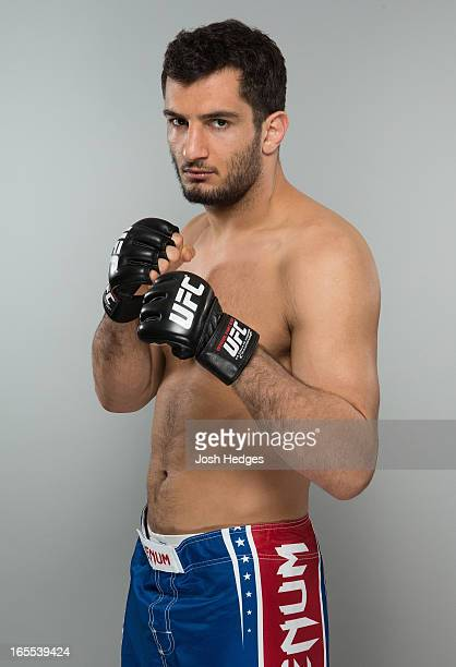Gegard Mousasi poses for a portrait ahead of his bout at the UFC Stockholm 2013 event on April 4 2013 at the Clarion Hotel in Stockholm Sweden