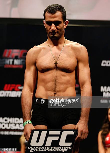 Gegard Mousasi weighs in during the UFC weighin at Arena Jaragua on February 14 2014 in Jaragua do Sul Santa Catarina Brazil
