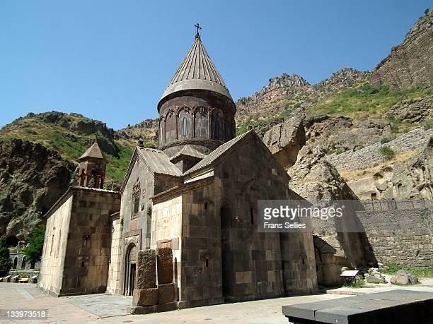 geghard monastery, armenia - frans sellies stockfoto's en -beelden