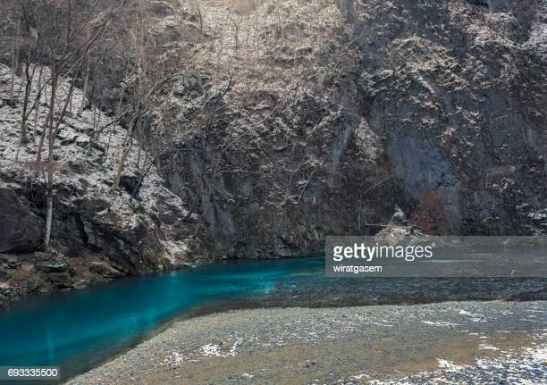 geibi - kei gorge, ichinoseki, iwate prefecture, japan - iwate prefecture stock photos and pictures