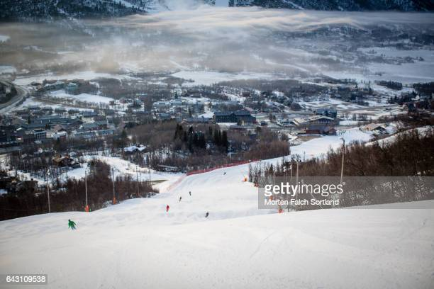 geilo ski resort - winter sports event stock pictures, royalty-free photos & images