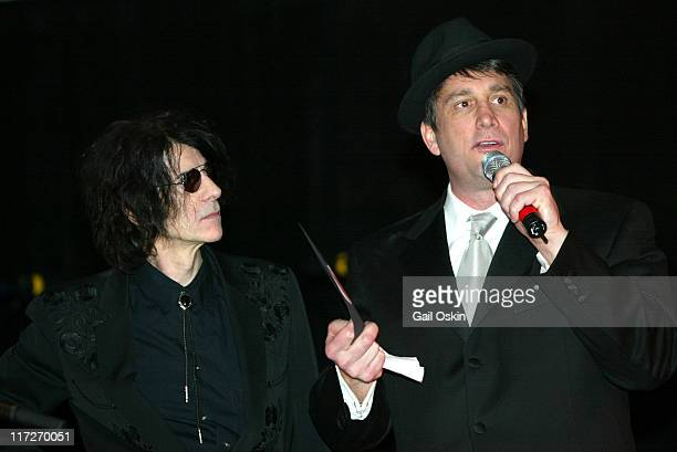 J Geils band front man Peter Wolf left and Cam Neely right at the Cam Neely Foundation Fundraiser Monte Carlo Night Betting On A Cause And A Cure...