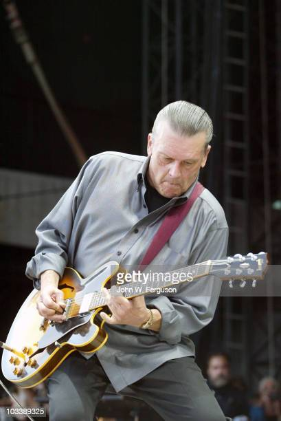 J Geils of the J Geils Band performs at Fenway Park on August 14 2010 in Boston Massachusetts