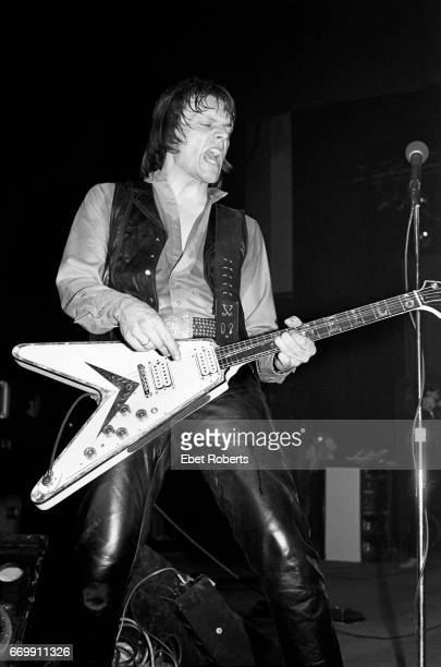 J Geils performing with The J Geils Band at the Palladium in New York City on April 25 1980