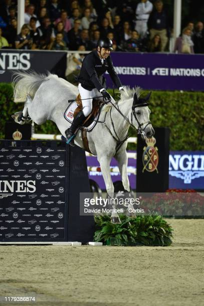 Geir Gulliksen riding Gin Chin van het Lindenhof of Norway during Longines FEI Jumping Nations Cup Final Challenge Cup on October 5 2019 in Barcelona...