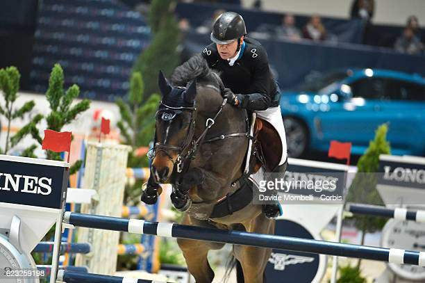 Geir of Norway rides Falco van Spieveld during the FEI Longines CSI5* World Cup Small Tour By BMW Jumping Verona 2016 on November 10 2016 in Verona...