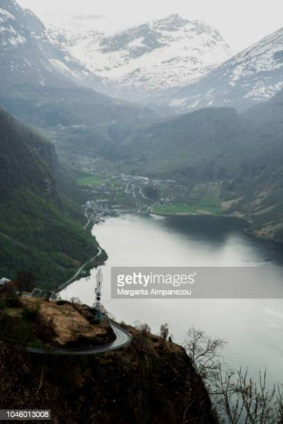 Geiranger city from above