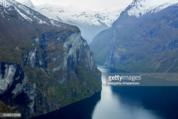 Geiranger fjord from above