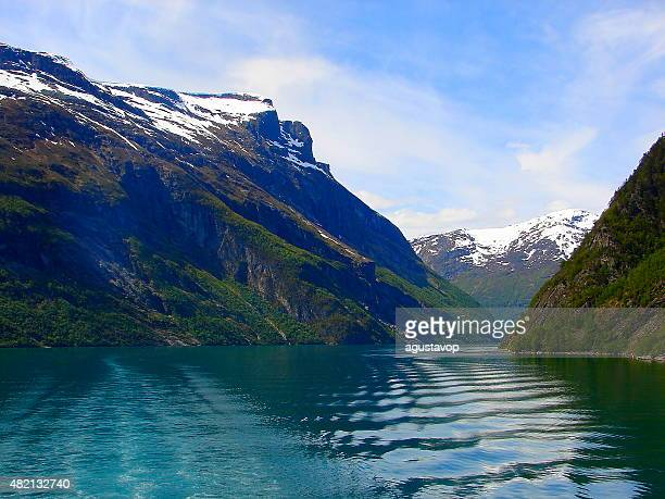 Geiranger fjord waves landscape, Norway, Scandinavia, Nordic countries