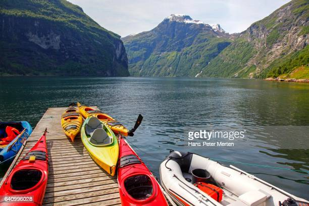geirangerfjord, more og romsdal, norway - moored stock pictures, royalty-free photos & images